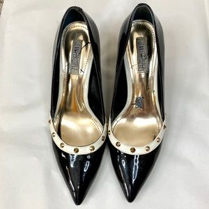 Jennifer Lopez Black Heels White Trim EUC